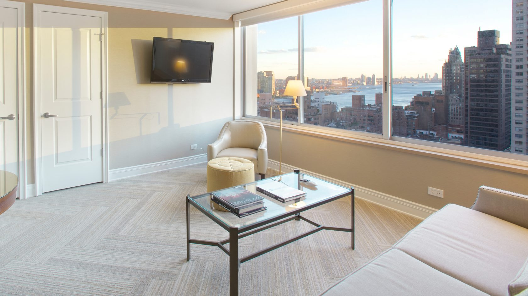 one bed extended stay room at Sutton Court in nyc\