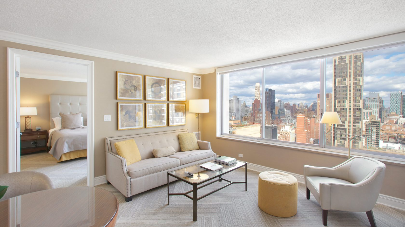 sutton court bedroom with amazing view of nyc