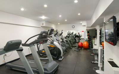 fitness center at Sutton Court in NYC