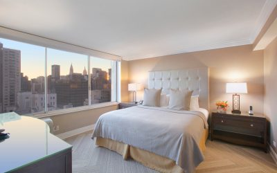 one bed extended stay room at Sutton Court in nyc